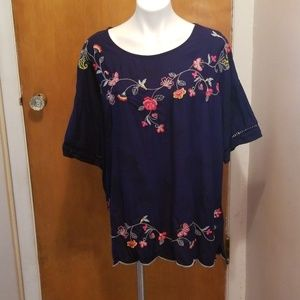 Pretty Embroidered Time and Tru Blouse